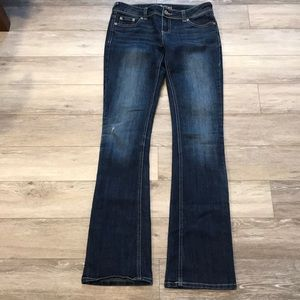 Maurices jeans straight cut size 3/4 long